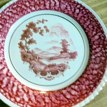 My pretty Red Plates but what are they? - China and Dinnerware