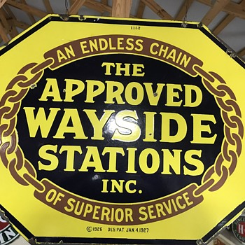 wayside stations porcelian sign - Petroliana