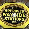 wayside stations porcelian sign