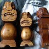 wood carvings/gods....