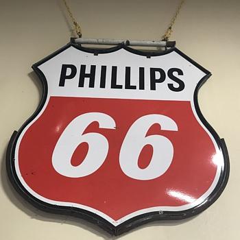Phillips 66 4ft porcelain sign  - Petroliana