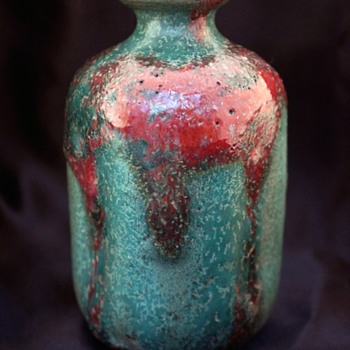 Circa 1890s Alexandre Bigot Gres Cabinet Vase