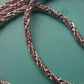 14K White Gold Rope Necklace Thrift Shop Find 2 Euro ($2.22) - Fine Jewelry