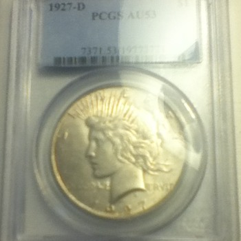 1927 & 1928 Peace Dollars - US Coins