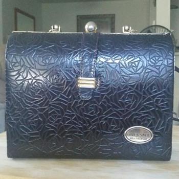 Vintage Black Clasp versace purse...