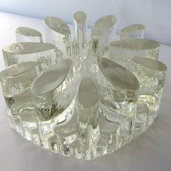 Large Bel Mondo or La Vida West German Glass Pot Warmer