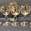 Pretty Vintage Sherry / Liqueur Glasses with gold rims and Bubble Print