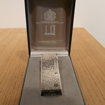 DUNHILL ROLLAGAS 'BARK' LIGHTER c.1980 - Tobacciana