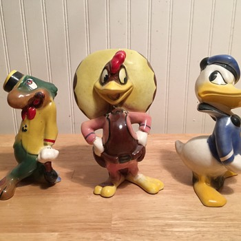 """Three Caballeros"" American Pottery - 1947"