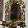 Beveled Mirror with Candelabra