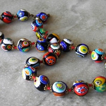 Vintage Millefiore Beads - Costume Jewelry