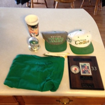Larry Bird Collectable signed items