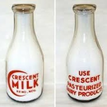 Milk Bottle from Crescent Milk - Bottles
