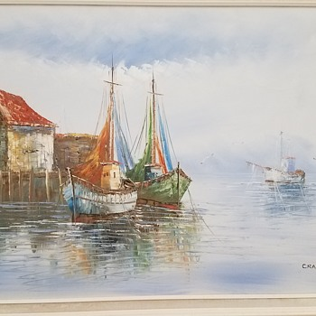 Artist Crane painting - Fine Art