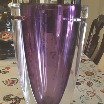 """Waterford 10"""" Amethyst Crystal Vase"""