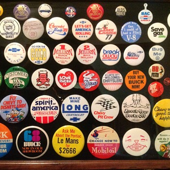 Automobile Pinback Collection - Medals Pins and Badges