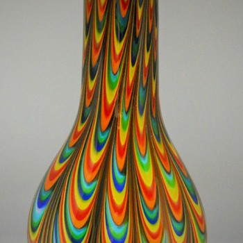 Swirly Multicolor pull Vase, Circa 1950-70 - Art Glass