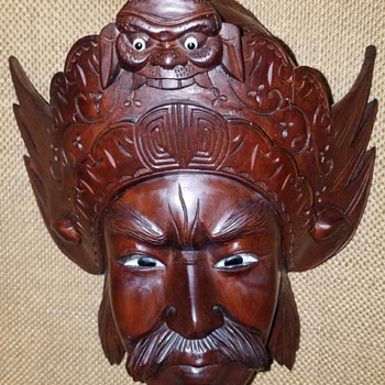 Wood Carved Mask  - Fine Art