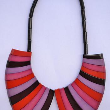François Schoenlaub / Guillemette L'Hoir Galalith Necklace - 1970's - Costume Jewelry