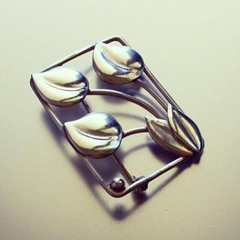 Hugo Grun (Grøn) Danish sterling silver Brooch - Fine Jewelry