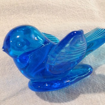 Blue bird of happiness - Art Glass