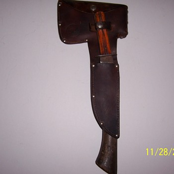 boy scout knife and hatchet-Hibbard, Spencer, Bartlett & Co. - Sporting Goods
