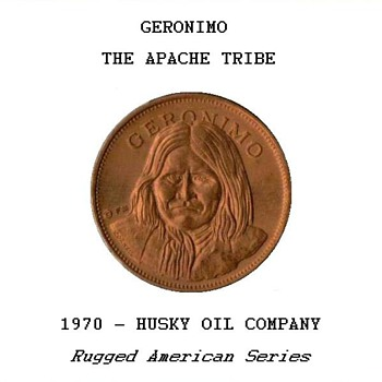 "Husky Oil Co. - ""Geronimo"" Token - Advertising"