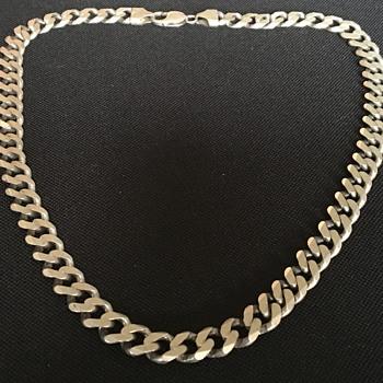 Vintage mans silver necklace  - Fine Jewelry