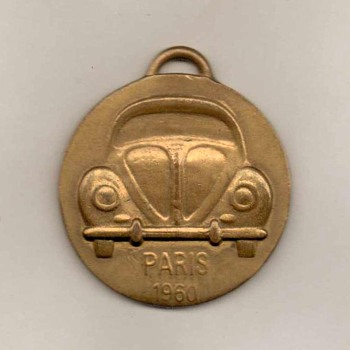 1960 - Paris Auto Show VW Beetle Keyfob - Advertising