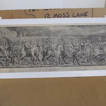 HELP! Chaucers Canterbury Pilgrims Engraving-1809-10