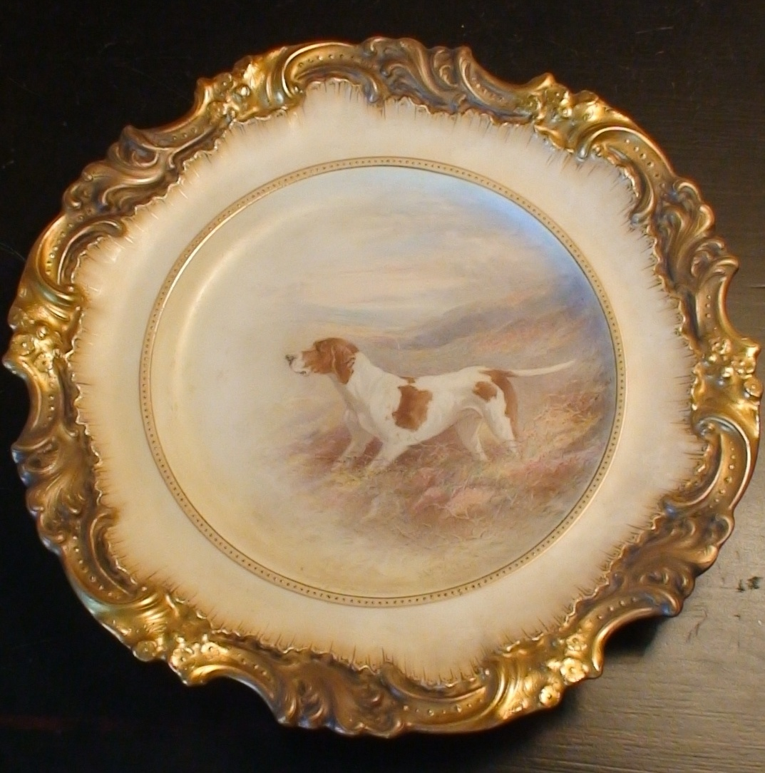 Very Rare Antique Hand-Painted Dog Plate Royal Doulton/Burslem By Henry Mitchell | Collectors Weekly & Very Rare Antique Hand-Painted Dog Plate Royal Doulton/Burslem By ...
