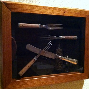 Shadow box for vintage cutlery  - Kitchen