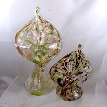 Antique Bohemian? Kralik? Mica JIP Vases  - Art Glass