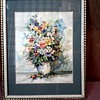 Wonderful Floral Watercolor Matted and Framed / Signed P. Carlisle / Unknown Date