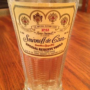 Smirnoff de Czar No 63 unopened
