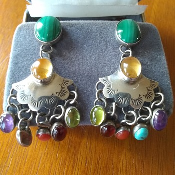 Some of my recent Navajo Sterling Chandelier Earrings From Vintage Estate Auctions, Marked TK Sterling - Native American