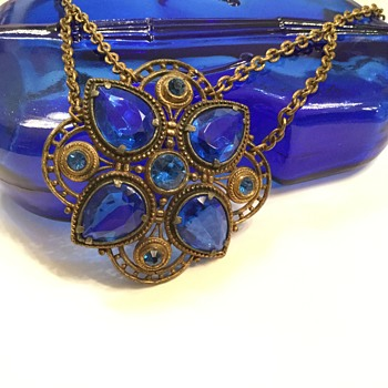 Mom's Old Cobalt ( for Laura) - Costume Jewelry