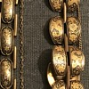 Antique Chinese exported sterling silver line bracelets