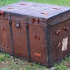 "1880's  34"" French Canadian - George Barrington & Sons Montreal- Flat Top Trunk"