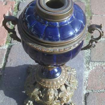 Pottery, brass and bronze Kosmos? lamp - Lamps
