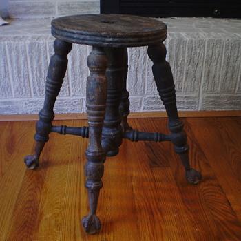 Antique Piano Stool - Furniture