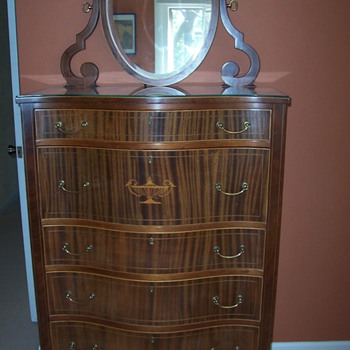 Antique Tiger Oak Dresser and Vanity
