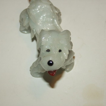 Pale Green Jade Carved Dog Asian Chinese/Japanese