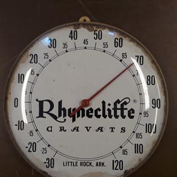 old RHYNECLIFFE CRAVATS advertising thermometer - Advertising