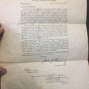 Old WW1 Letters - Military and Wartime