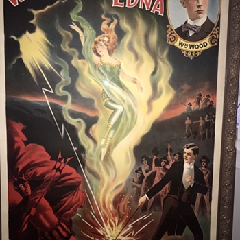 Wood's Edna original rare magic poster - Posters and Prints