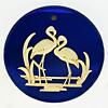 Small 12 Inch (30.48 cm) Round Rare Flamingo Mirror