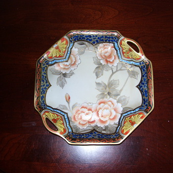 NIPPON HAND PAINTED PORCELAIN PLATE - Asian
