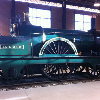 "This is the ""D. Luis locomotive"", the oldest steam locomotive in Portugal. - Railroadiana"