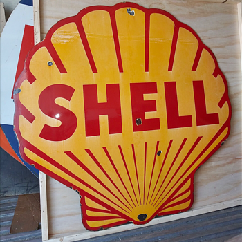 SHELL Porcelain Sign - Signs